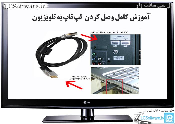 آموزش کامل  وصل کردن لپ تاپ به تلویزیون