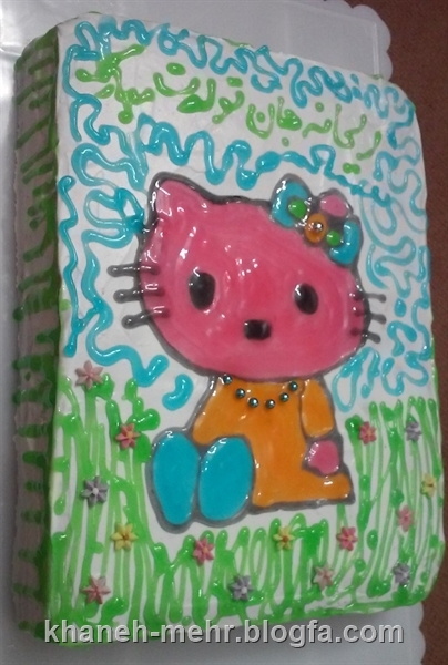 کیک تولد کیتی دخترونه