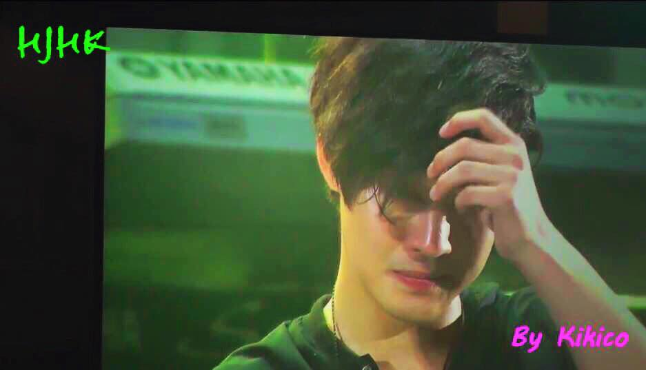 Crying Hyun Joong in Makuhari Concert From Gemini Tour By Kikico