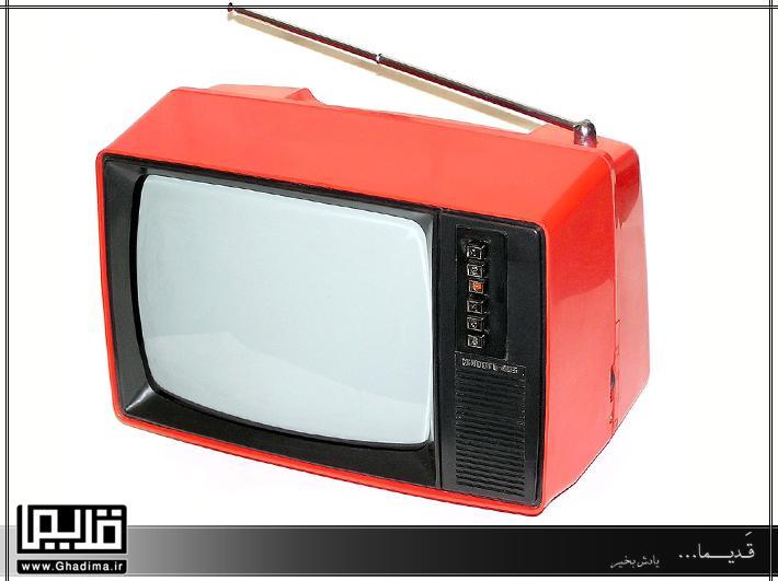 تلویزیون قرمز 14 اینچ سیاه و سفید