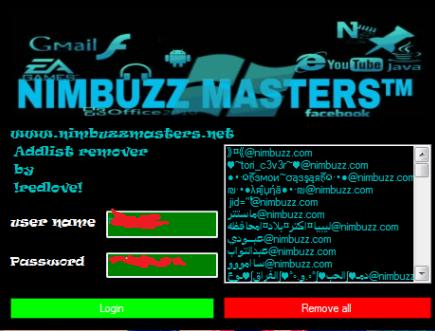 NimbuzzMasters Addlist Remover  full speed Nimbuzzmaster