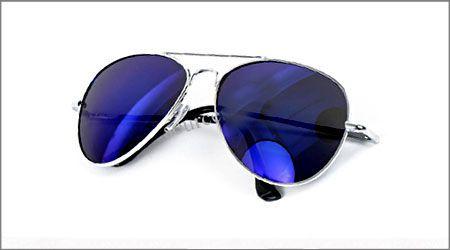 خرید عینک شیشه خلبانی آبی