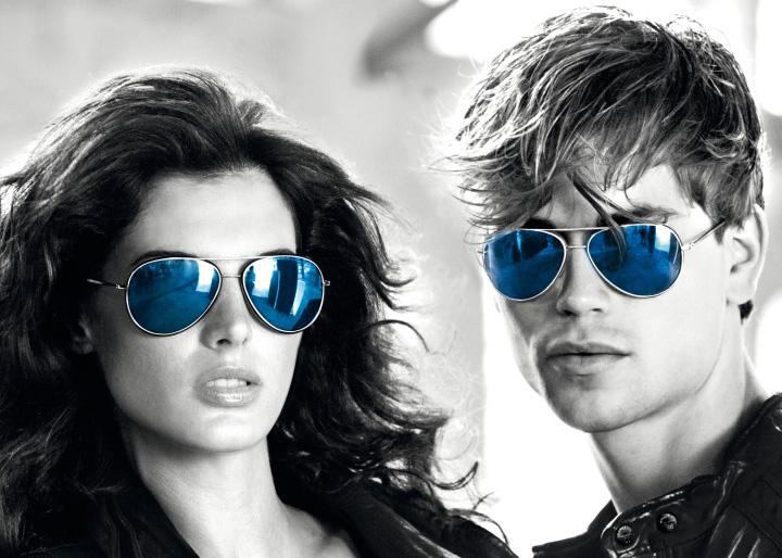 عینک آفتابی شیشه آبی خلبانی