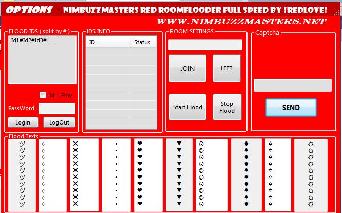 NimbuzzMasters Red Room flooder  full speed  Redflooder