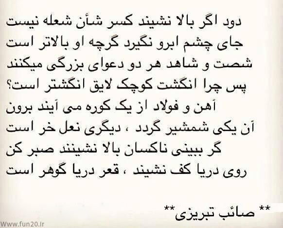 گلچین اشعار صائب تبریزی