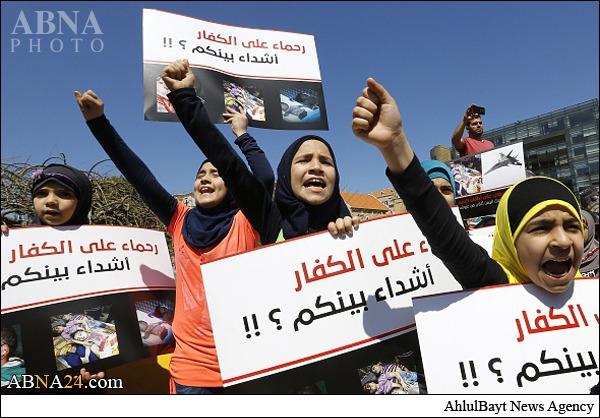 همبستگی کودکان لبنانی با کودکان یمنی