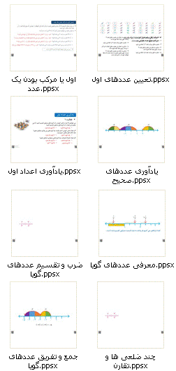 دانلود فایل های آموزشی ریاضی هشتم به صورت پاورپوینت ppsx