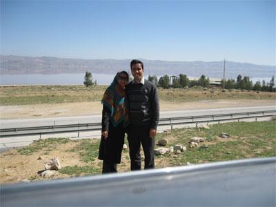 دریاچه مهارلو ، جاده شیراز به کرمان ( نوروز 1394 )