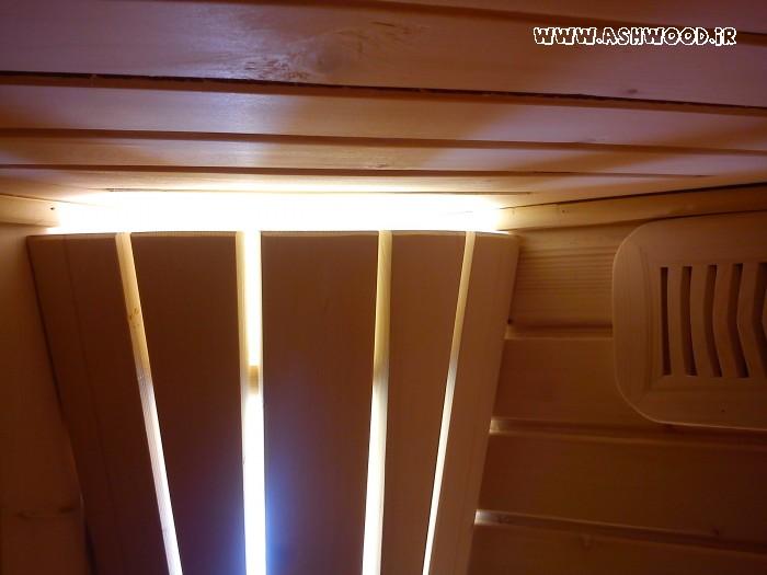 روشنایی ، نورپردازی سونای خشک در کنار دریچه هواکش
