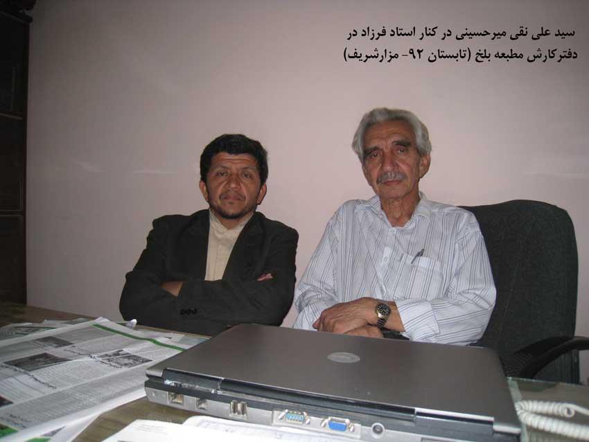 استاد فرزاد، الگوی مناسبِ جامعه افغانستان