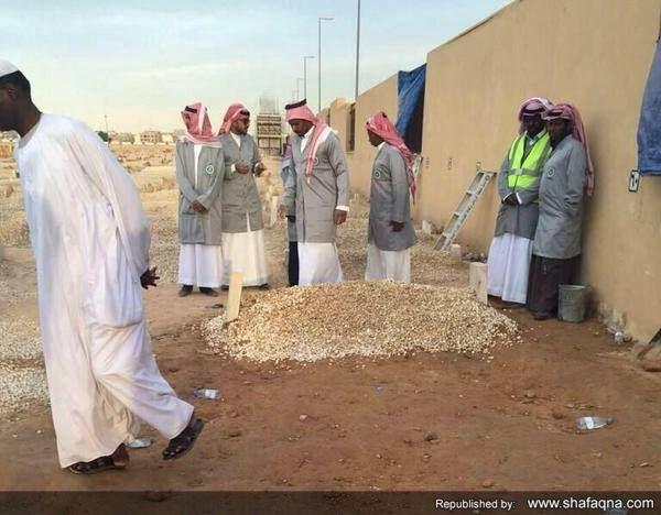تصاویر عبرت آموز از قبر ملک عبدالله