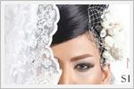 مدل عروس با موی مشکی