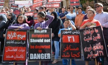 مظاهره  هزاره های آسترالیا جهت آزادی 31 مسافر ربوده شده در افغانستان