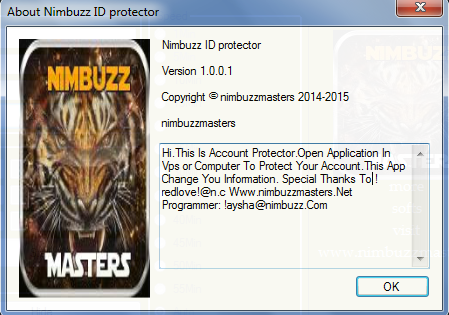 NimbuzzMasters Nimbuzz ID protector  Nbmmm