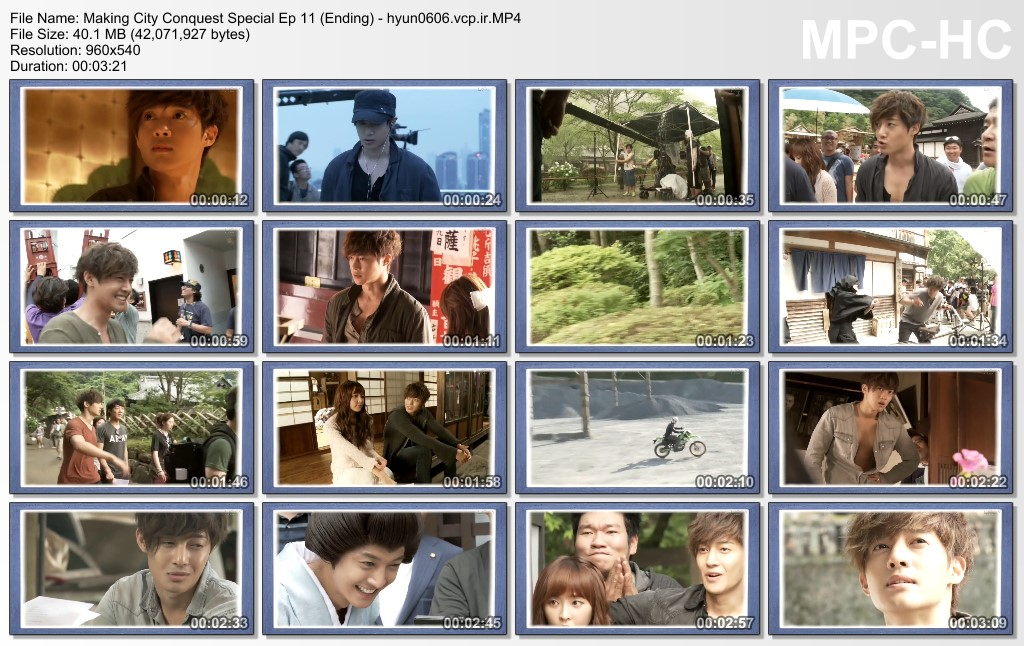[Fancams+Video] Kim Hyun Joong Shooting and Making Сity Сonquest Special Ep 11 (Ending) [2012.09.26]
