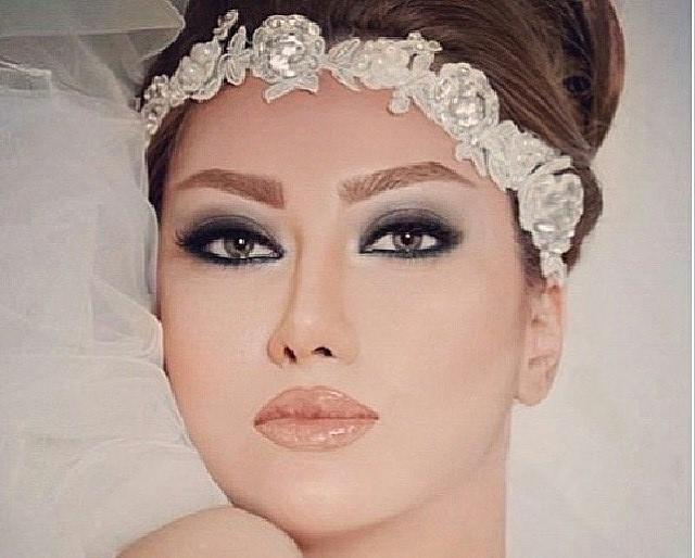 هفده مدل ارایش عروس شیک و مات با رنگ های اجری برنز صورتی نارنجی  عکس ارایش عروس با رژلب مات و سایه های تیره مات سایه مشکی
