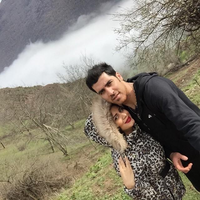 عکس سلفی شهرام محمودی و همسرش