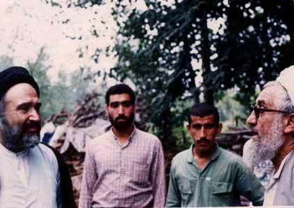 سید حسن ابطحی با ایه الله قربانی در لاهیجان