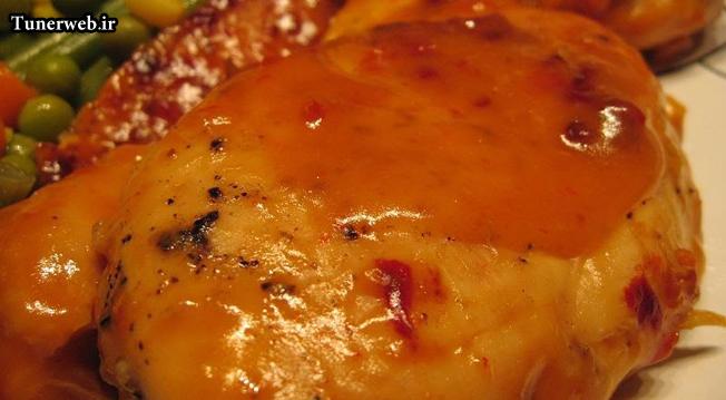 طرز تهیه خوراک مرغ شیرین