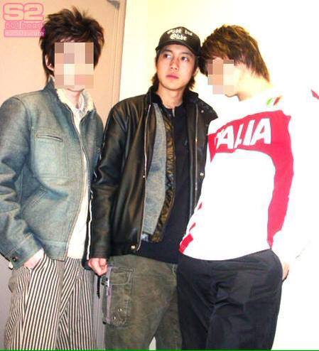 a Very Young Hyun Joong With Friends
