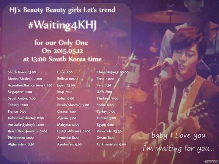 [Important Announcement] New hashtag to Support Kim Hyun Joong In His Enter the Military Service! ‪#‎Waiting4KHJ [06.05.15]