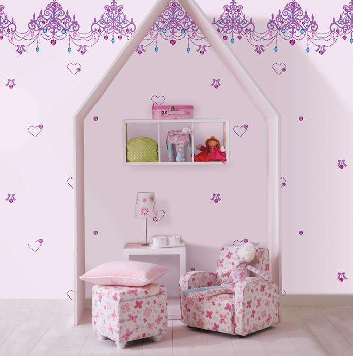 کاغذ دیواری دخترانه. کاغذ دیواری اتاق کودک
