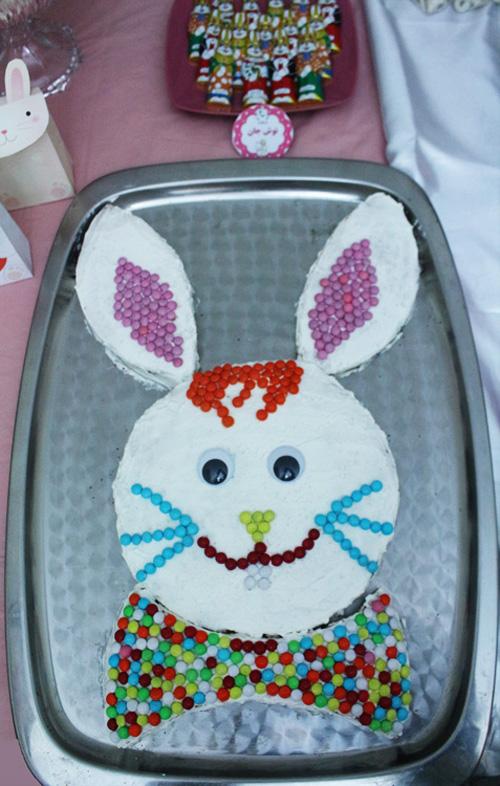 کیک خرگوشی نفیس پز تزئین اسمارتیز