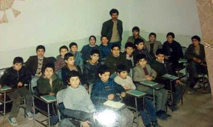 دانش آموزان کلاس اول راهنمایی مدرسه عدالت قاضی جهان