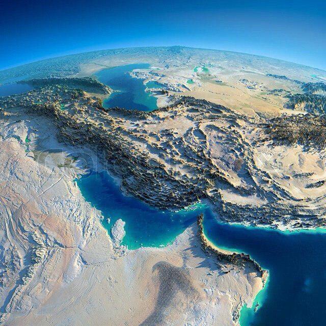 عکس ماهواره ای فلات ایران