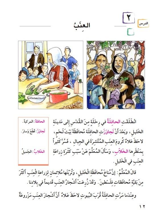 کتاب لغتنا الجمیله کتاب آموزش عربی فلسطین کتابهای درسی مدارس عربی کتاب کار عربی کتاب متن خوانی عربی