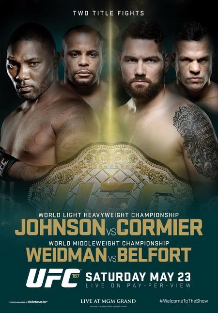 دانلود یو اف سی 187   UFC 187 : Johnson vs. Cormier-نسخه ی H265-720p