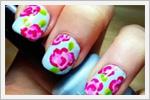 ناخن های با طرح گل