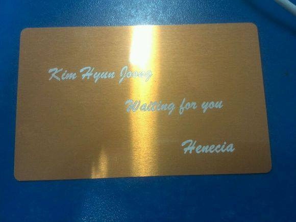 Laser Engraved Lettering to The Table Slightly For KHJ in Army - We Are Waiting for You