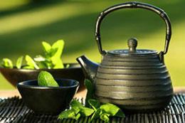 عکس کتری و چای سبز