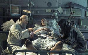 عکس مفهومی فرشته مرگ و زندگی
