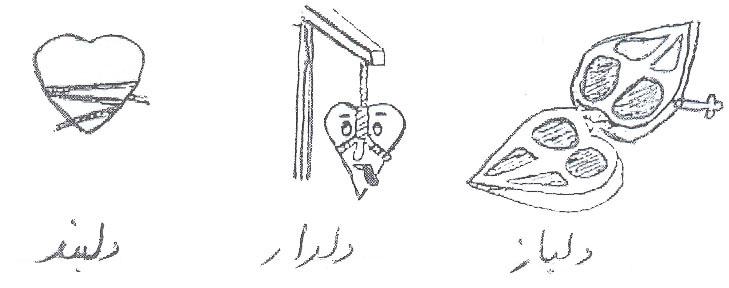 روایت مصور: انواع دل