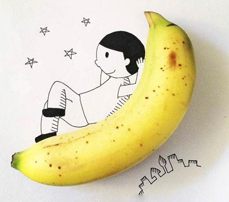 هنرنمایی با میوه ها