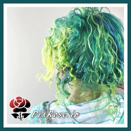 ترکیب رنگ سبز و آبی