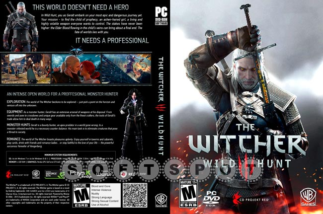 کاور بازی The Witcher 3
