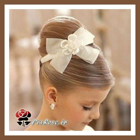 مدل بستن موی دختر بچه ها با پاپیون