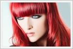 رنگ موی شرابی و قرمز