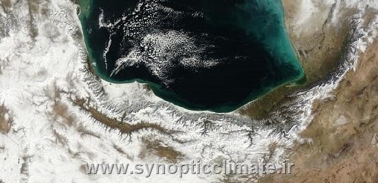 تصویر ماهواره ای پس از برف 12بهمن 1392 در شمال کشور