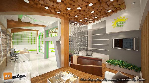 طراحی و برندسازی مغازه و فروشگاه به همراه فضای دفتری و بخش فروش