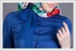 مدل بلوز پوشیده آبی