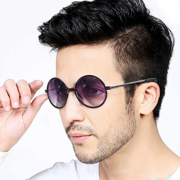 خرید عینک آفتابی مردانه گرد