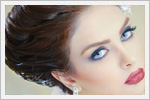 مدل آرایش و شینیون عروس ایرانی