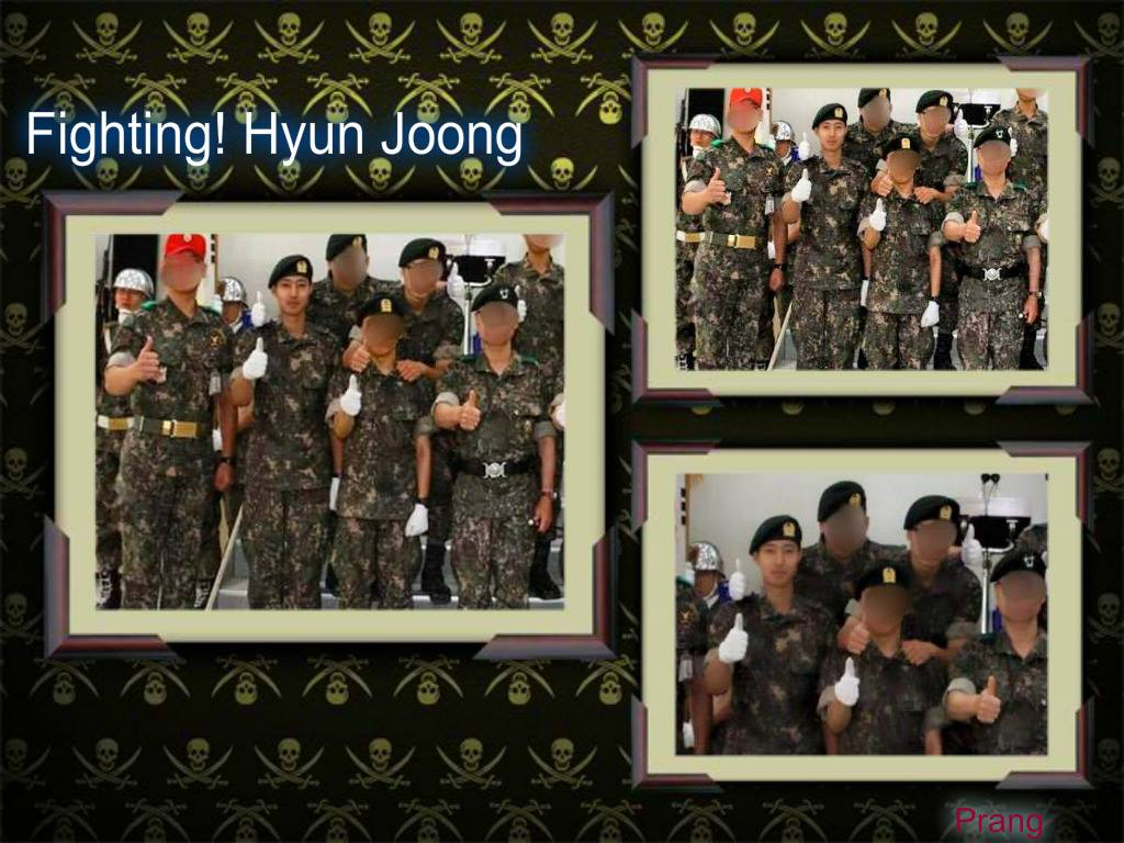[Photo] Kim Hyun Joong - Graduation From Basic Training [2015.0.18]