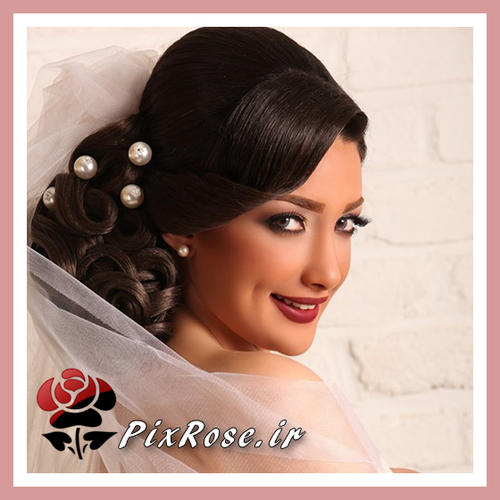 عروس ایرانی مو مشکی