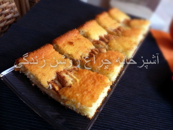 کیک سیب و دارچین