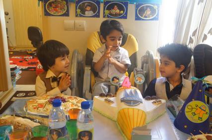رایین در جشن تولد دانیال
